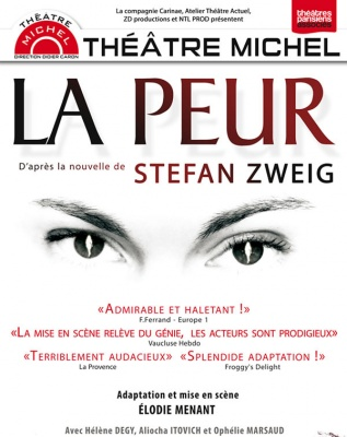 la peur stefan zweig theatre michel