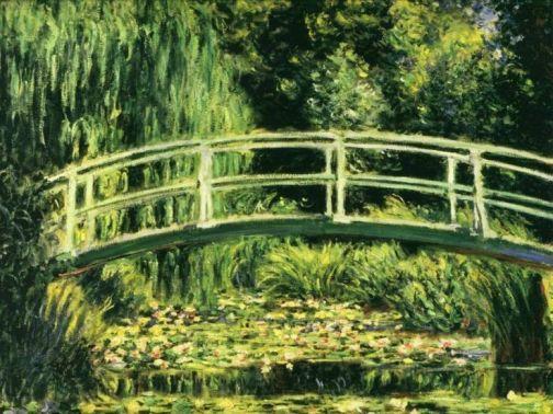 pont japonais et bassin aux nymphéas - claude monet - 1899